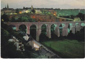 Post Card Luxembourg La Nuit Panorama Villa Haute