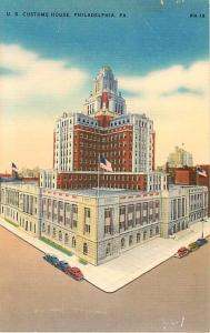 Linen of U.S. Customs House Philadelphia Pennsylvania PA