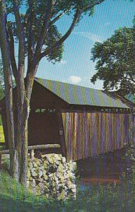 Old Covered Bridge In Bradford New Hampshire