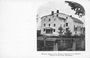 Meetinghouse of Mount Lebanon New York shakers New York, USA Shaker Unused
