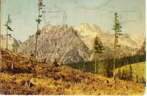Slovakia, Tatra National Park, Kopky, Vysoka, Zlobiva, 1963 used Postcard