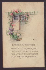 Easter Greeting,Scene Postcard