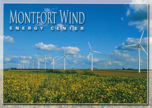Montfort Wind Energy Center Wind Turbines - Iowa County WI Wisconsin - Roadside