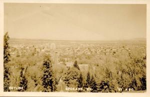 WA - Spokane. Skyline View    *RPPC