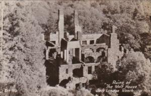 California Sonoma Ruins Of The Wolf House Jack London Ranch Real Photo