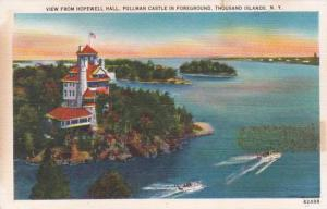 New York Thousand Islands View From Hopewell Hall Pullman Castle In Foregound...