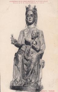 Jean Baptiste De Perpignan Statue Holy Mary Jesus Madonna Antique Postcard