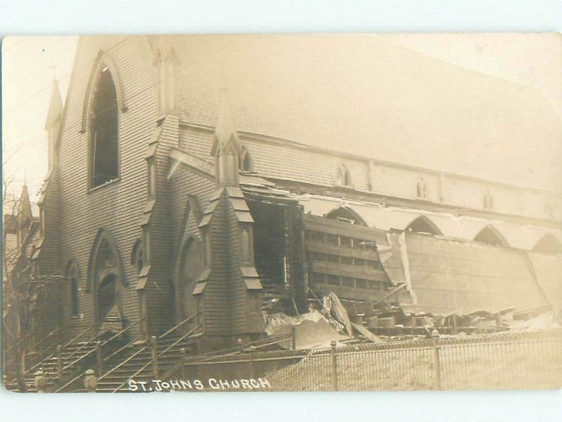 Damaged Pre-1918 rppc CHURCH IN UNKNOWN TOWN Published In Canada W1090