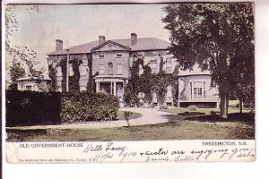 Old Government House Fredericton New Brunswick McMurray Book Warwick, Cancel ...