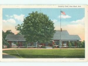 Bent - W-Border COUNTRY CLUB BUILDING Pine Bluff Arkansas AR p0728