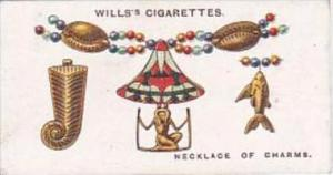 Wills Cigarette Card Lucky Charms No 31 Necklace Of Charms