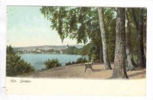 Hjo, Sweden, Pre-1905 Park view toward town across water
