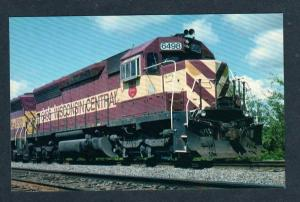 WI Wisconsin & Central Railroad Train 6498 Marshfield Wisconsin RR Postcard PC
