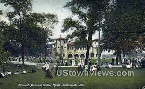 Riverside Park & Shelter House Indianapolis IN 1908