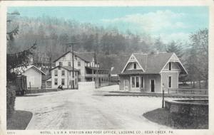 BEAR CREEK , Pennsylvania, 1910s; Hotel, L.V. Railroad Station & Post Office