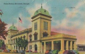 SAVANNAH , Georgia , 30-40s ; Union Railroad Train Station