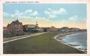Grand Ave., Falmouth Heights, Massachusetts, Early Postcard, Unused