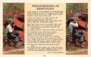 KY Postcard, Kentucky Post Card Neighboring in Kentucky Lucy Louise Hatcher U...