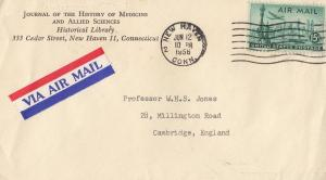 History Of Medicine & Allied Sciences Connecticut Old Official Envelope Cover