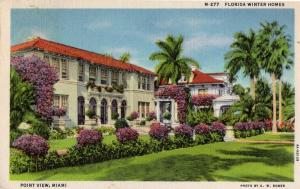 Miami, Florida - Florida Winter Homes - Point View - in 1935