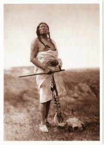 Slow Bull Oglala Lakota Medicine Man Native American Modern Postcard