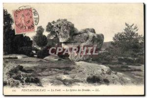 Old Postcard Dolmen Megalith Fontainebleau forest The Sphinx The Druids