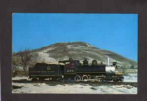 CO Narrow Gauge Florence Cripple Creek Railroad Train Golden Colorado Postcard
