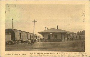 Epping NH B&M RR Train Station Depot 1907 Used Postcard