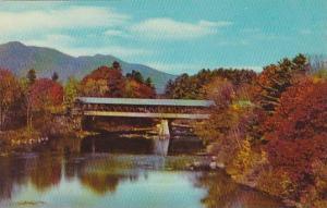 New Hampshire The Hampton Covered Bridge At Jackson