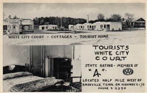 KNOXVILLE , Tennessee , 1930-40s ; Tourists White City Court & Gas Station