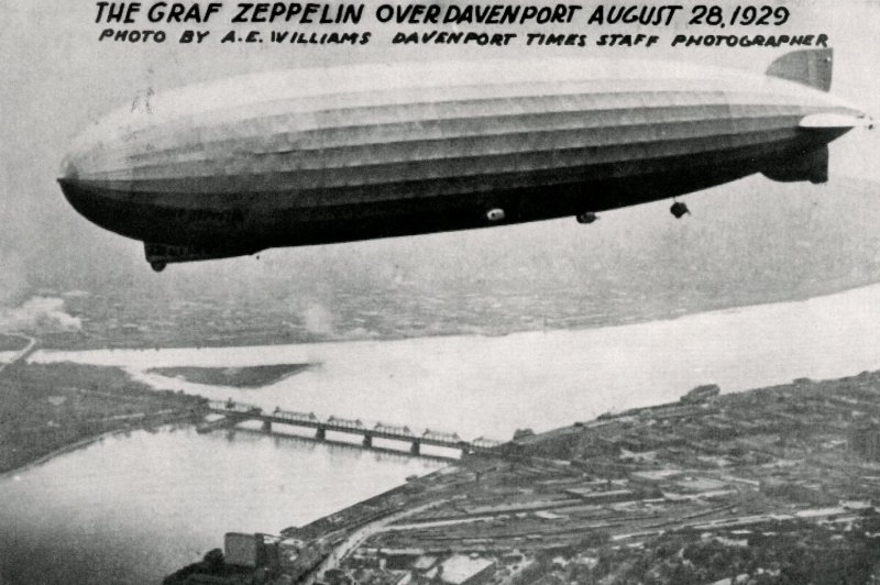 IA - Davenport. Graf Zeppelin. August 28, 1929