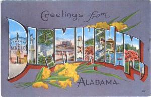 Linen Greetings from Birmingham Alabama AL