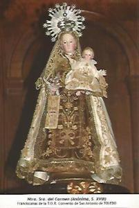 POSTAL 54601: Virgen del Carmen siglo XVIII. Toledo