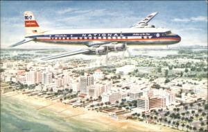 National Airlines DC-7 Star Airplane AIRLINE ISSUED Postcard