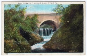 Milford, Pa, Stone Bridge on Vandemark Creek