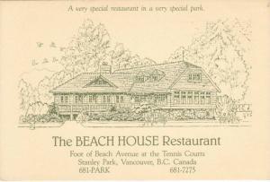 Beach House Restaurant , Vancouver , B.C. , 60-80s