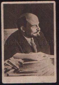 099454 Lenin in Study Vintage Mejrabprom PC