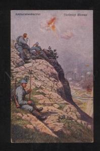 068777 WWI GERMAN PROPAGANDA artillery observer Old