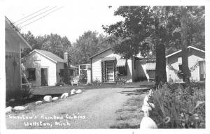 F35/ Wellston Michigan RPPC Postcard c1950s Gumtow's Rainbow Cabins