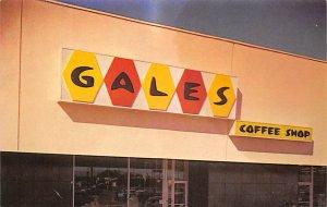 Advertising Post Card Gales Coffee Shop Unused
