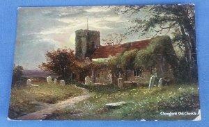 Vintage  Postcard Chingford Old Church  B1C