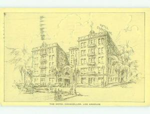 1930's CHANCELLOR HOTEL Los Angeles California CA HQ5743