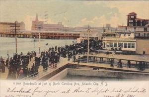 New Jersey Atlantic City Boardwalk At Foot Of North Carolina Avenue 1906  Rot...
