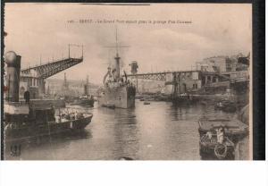 BREST, Finistere, France, 1900-1910's; Le Grand Pont Ouvert Pur Le Passage D'...