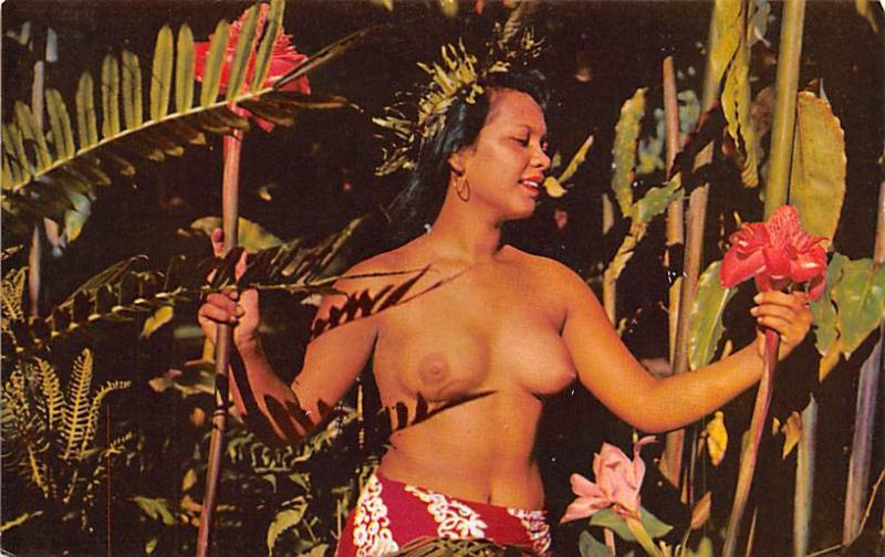Tahiti Beautiful Tahitian Maid  Beautiful Tahitian Maid