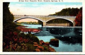 New York Massena Springs Bridge Over Raquette River