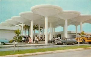 1960s Postcard Guam International Airport Mid-Century Modern Architecture