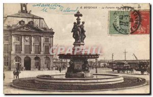 Postcard Old Bordeaux Fountain of the Three Graces