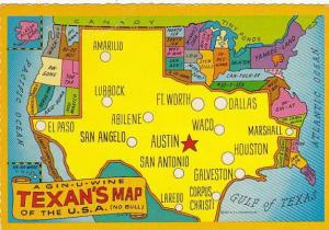 Map Of Texas Genuine Texan's Map