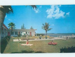 Pre-1980 MOTEL SCENE Clearwater - Near Tampa Florida FL G7502